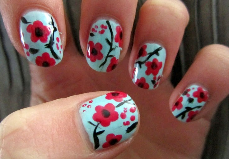 9 Best Cherry Blossom Nail Art Designs Styles At Life