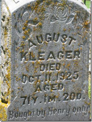 八月克莱格的严重标记,1925年去世了。