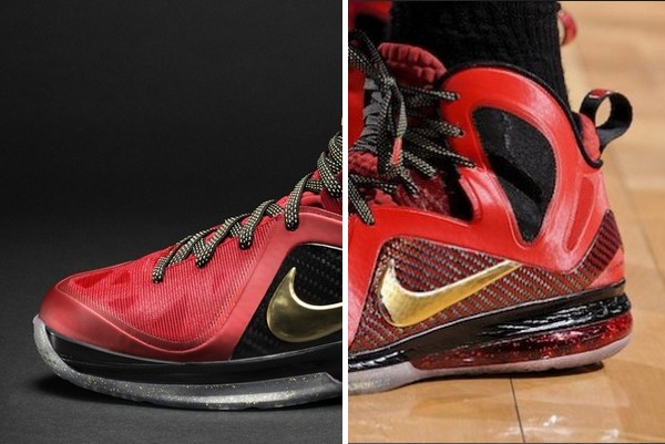 detailed look e8ad8 ec614 Nike LeBron 9 PS Elite Finals MVP – LBJ PE vs. Retail Version   NIKE LEBRON  - LeBron James Shoes