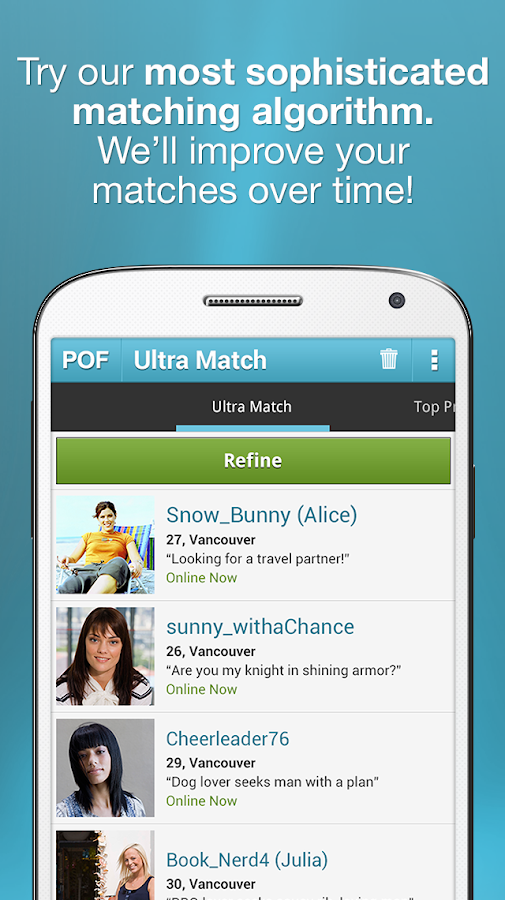 POF Free Dating App - Android Apps on Google Play