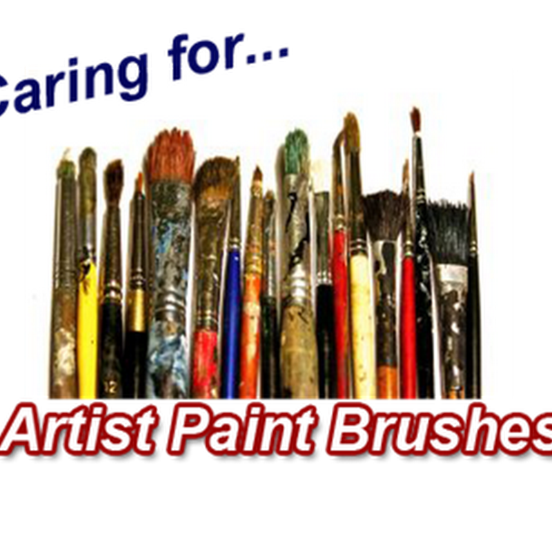 How to Clean Artist Paint Brushes