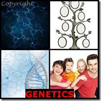 GENETICS- 4 Pics 1 Word Answers 3 Letters