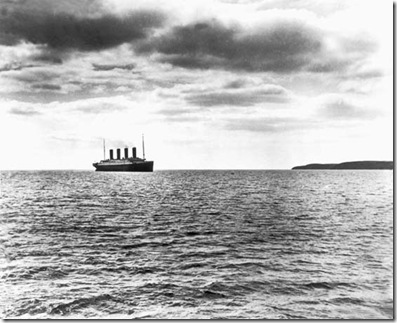 Titanic arriving off Cork Head