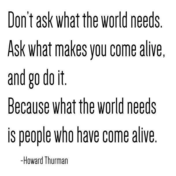 alive -- howard thurman