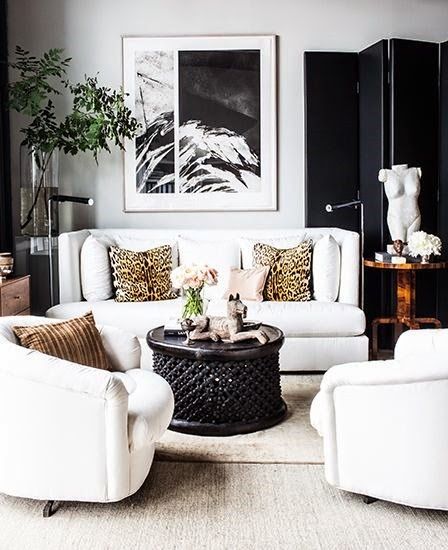30 Black White Living Rooms That Work Their Monochrome Magic: La Dolce Vita: Fabulous Room Friday 05.30.14