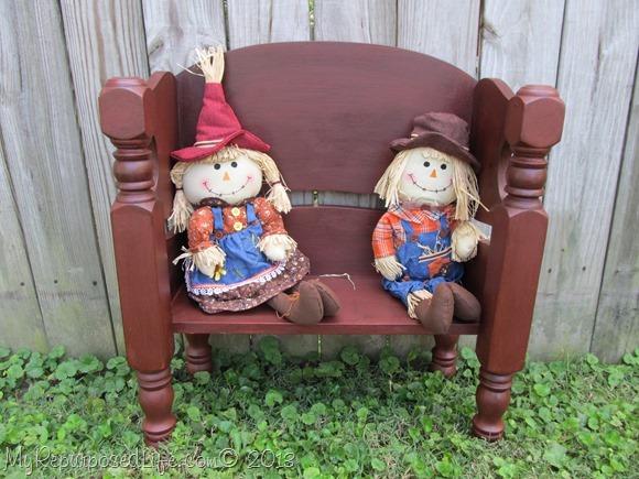 red doll bench