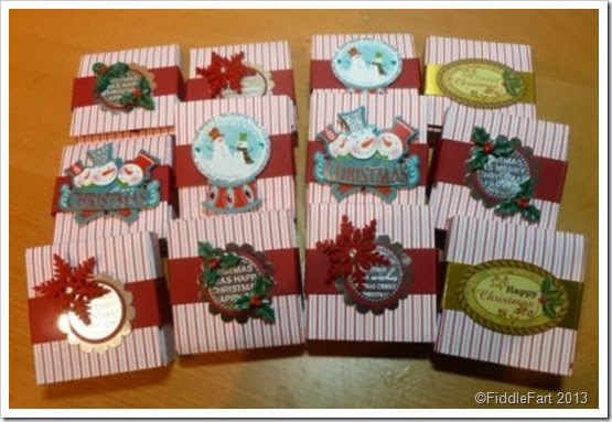 Sizzix Shaker Box Christmas Favours starlight mints