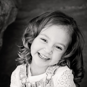 GIGGLES by Amber Welch - Babies & Children Child Portraits ( black and white, b&w, child, portrait )