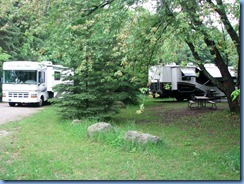 4502 Bass Lake Provincial Park - our motorhome in camp site #48 and Don & Shirley's in #5