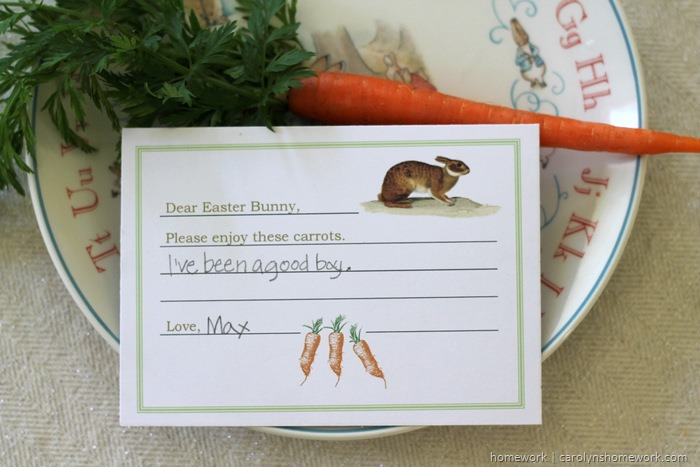 Dear Easter Bunny Printable Note (1)