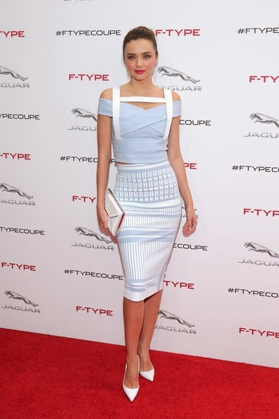 Miranda Kerr Stars Jaguar F TYPE Coupe Debut