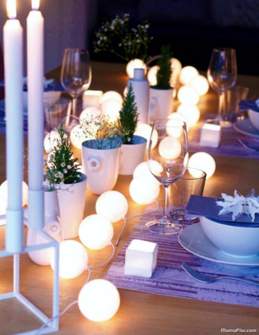 Centro de mesa iluminado