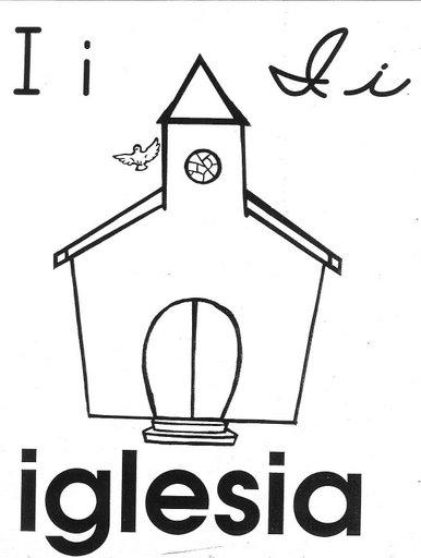 Iglesias Dibujos Para Colorear