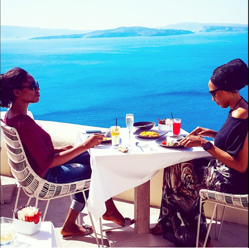 PHOTOS: Sylvia Nduka And Ene Maya's Vacation in Santorini Greece 13