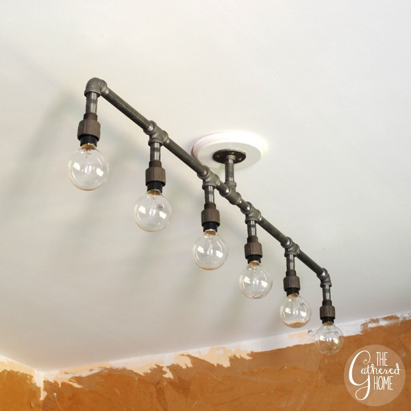 industrial looking lighting. How To Make A DIY Plumbing Pipe Light Fixture! Industrial Looking Lighting N