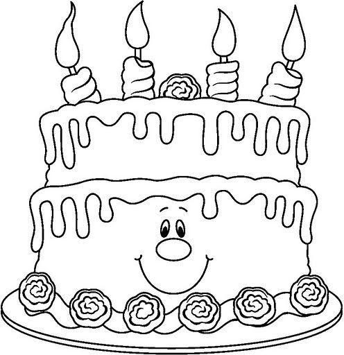 Tartas De Cumpleaños Para Colorear