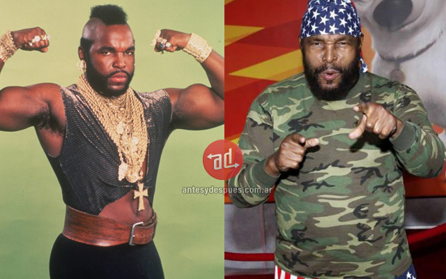 Mr T before and after