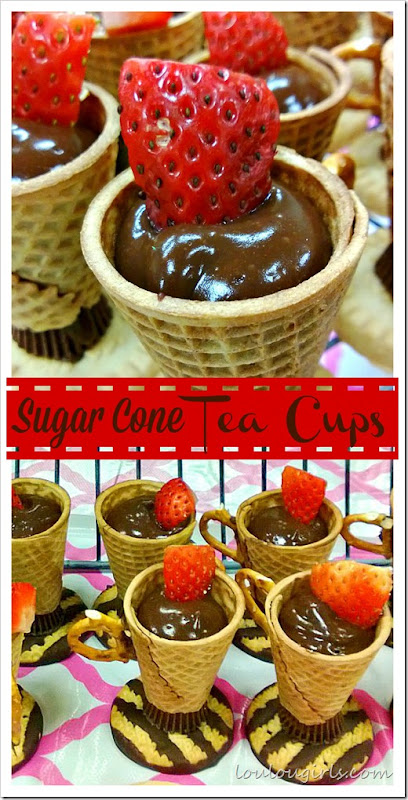 sugar cone tea cups