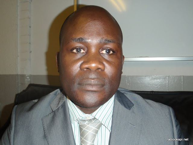 Jean Lucien Busa, Secrétaire général adjoint du MLC, 12/04/2010 à Kinshasa.