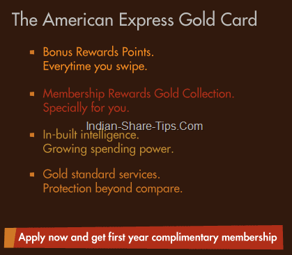 American Express Gold Card Offer– Get First Year Complimentary