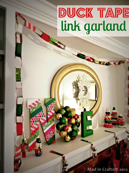 Duck Tape Christmas Garland