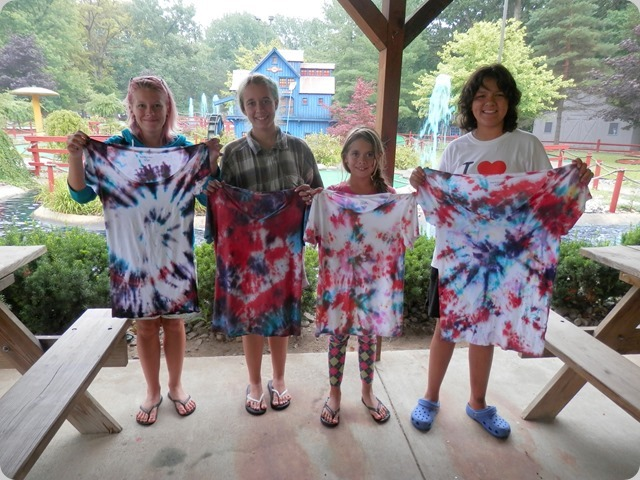 Their custom made tie dye shirts