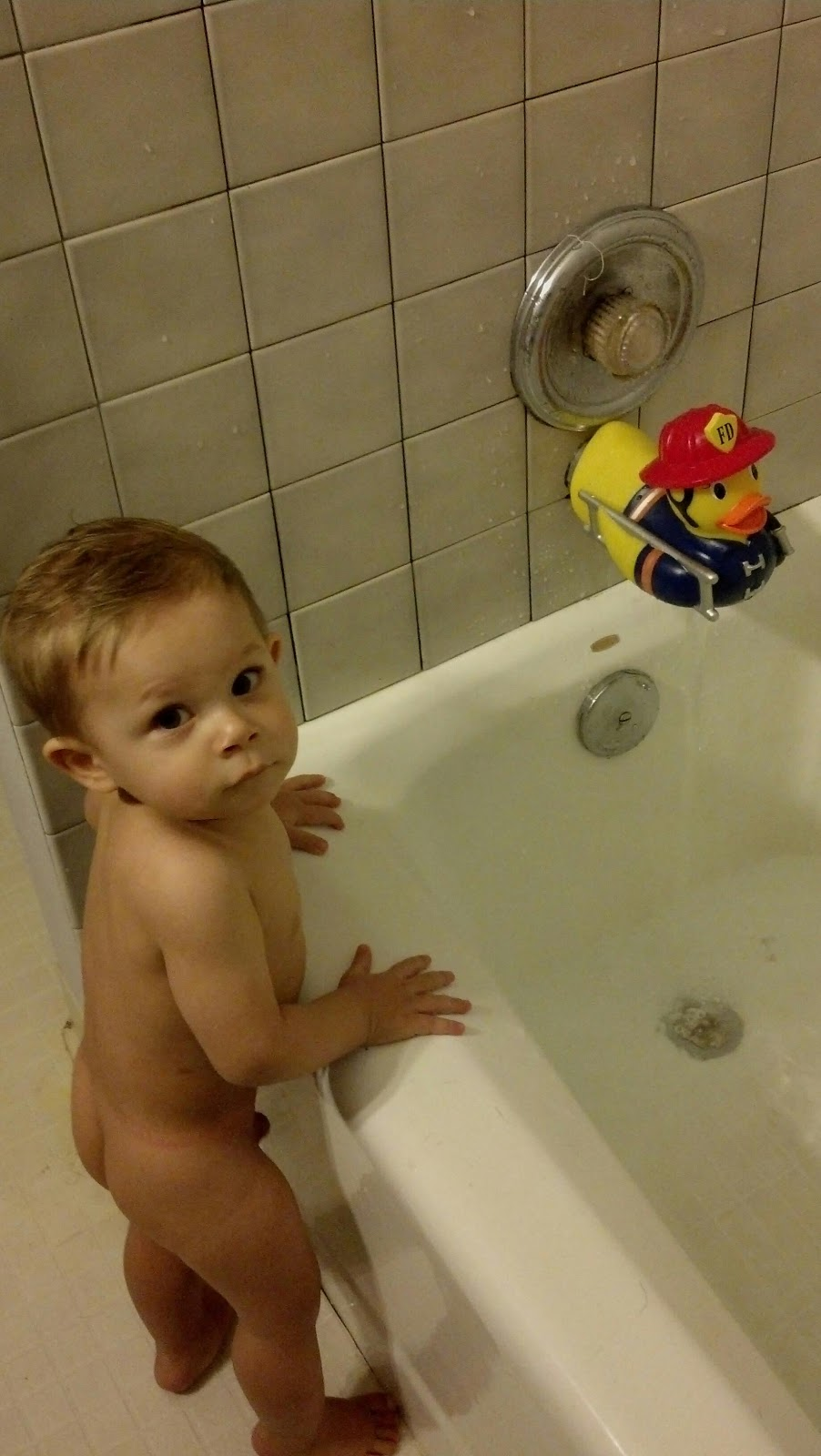 big boys bath time