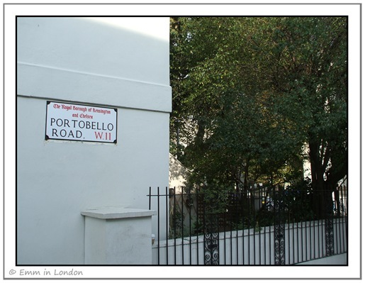 Portobello Road W11 Street Sign