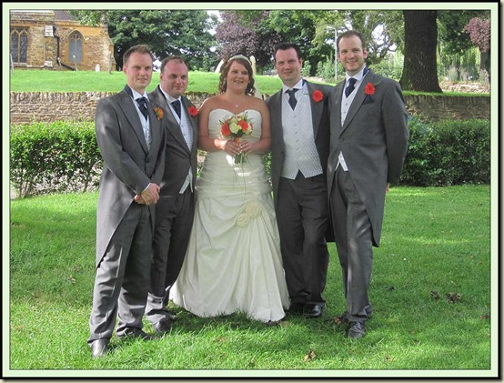 From L to R: Toby, Ollie, Geri, Will, Nathan (best man)