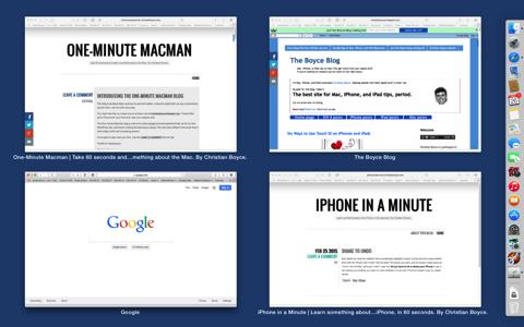 Show All Windows in Safari Mac OS Dock