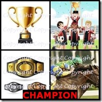 CHAMPION- 4 Pics 1 Word Answers 3 Letters