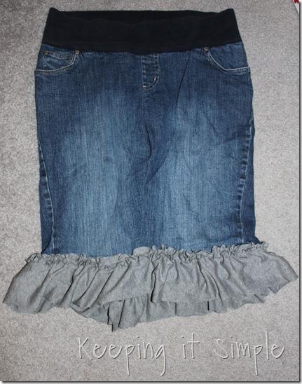 jean skirt refashion (4)