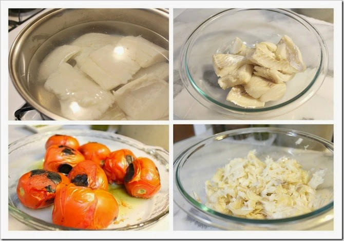 Mexican Style Salted Cod   Instructions step by step, quick and easy