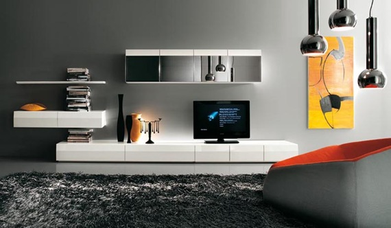 Mueble de TV de estilo simple
