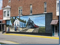 4163 Indiana - Ligonier, IN - mural on E 3rd St at corner of Cavin St - Ligonier Depot