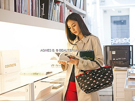 agnès b. VOYAGE tote bags 2012 Paris accessories Spring Summer le casino ab. Heart logos striped star prints Angelbaby  model