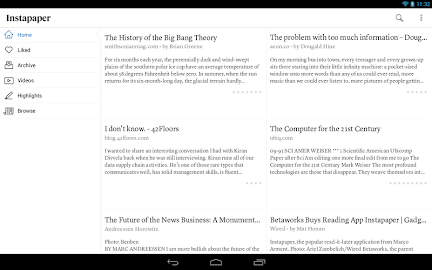 Instapaper Screenshot 1