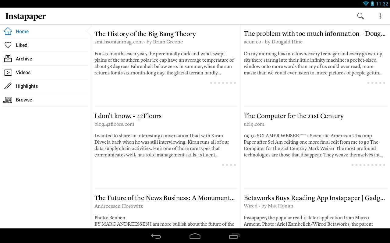 Pocket vs. Instapaper