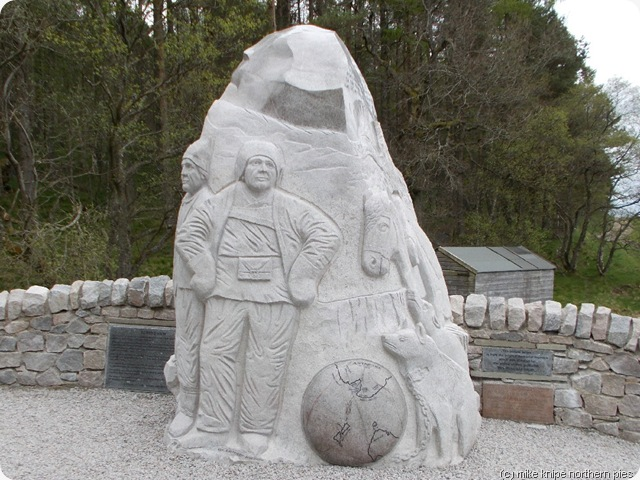 antartctic memorial at dykehead