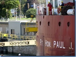 8158 Port Colborne - Lock 8 Gateway Park - RT HON PAUL J MARTIN self unloading lake freighter
