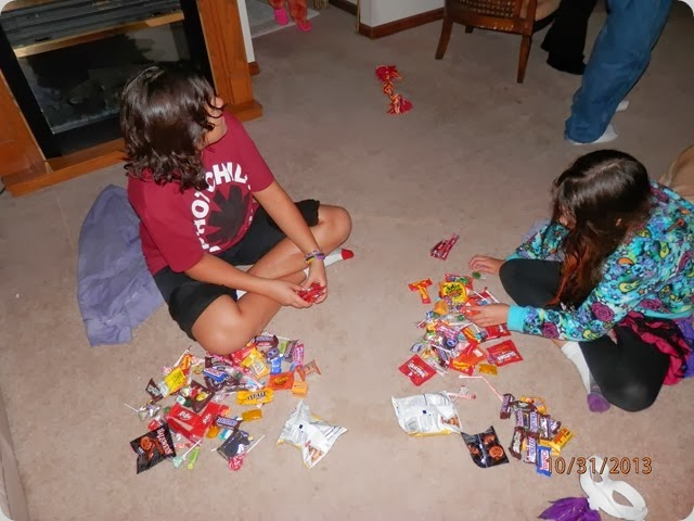 Brooke and Savannah trading favorite candy.