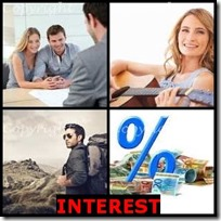 INTEREST- 4 Pics 1 Word Answers 3 Letters