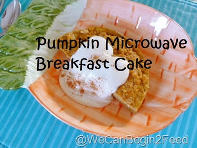 Pumpkin Microwave Breakfast Cake