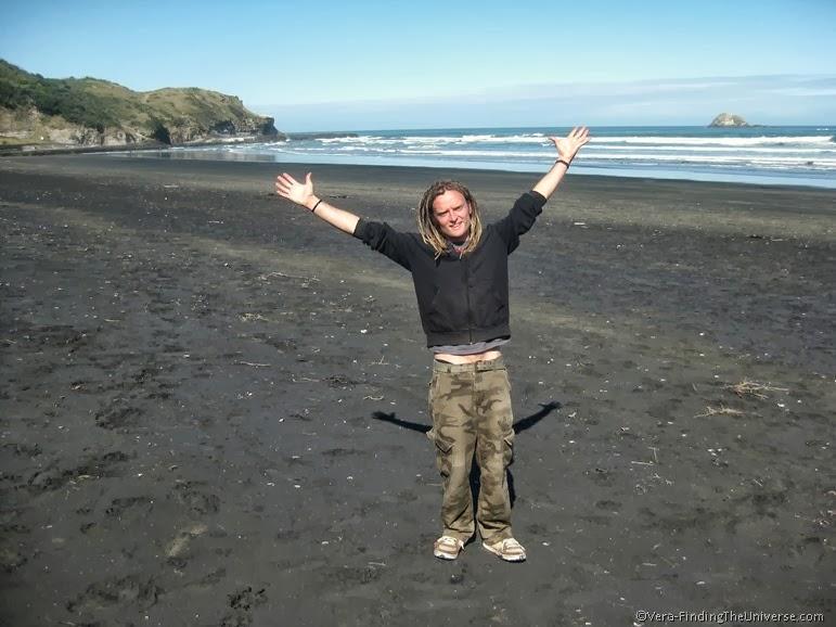 Loz at Muriwai Beach New Zealand
