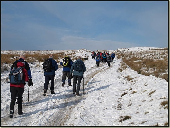 Walkers on Rooley Moor Road