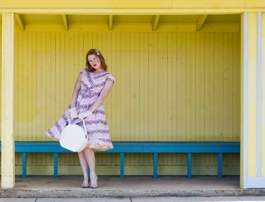 Got A Ticket For The Long Way Home 1950's vintage outfit post | Lavender & Twill