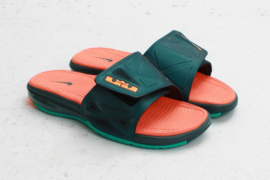 Nike Air LeBron 2 Slide Elite 8211 Dark Atomic TealTotal Orange ...