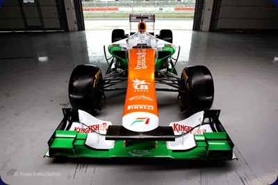 VJM05. Sahara Force India Formula One Team - VJM05 Launch - Silverstone, UK, 03.02.2012 -  Sahara Force India Formula One Team Copyright Free Image