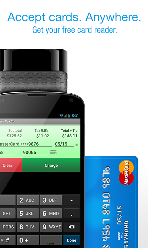 Credit Card Terminal - screenshot