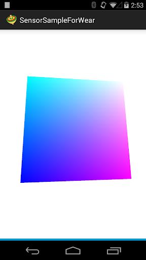 傾きセンサーサンプルアプリforWear